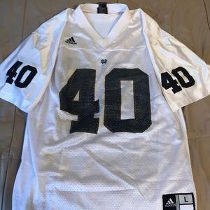 White Notre Dame Adidas Jersey (Size-L)